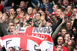 LONDON, ENGLAND - Sunday, January 28, 2007: Nottingham Forest supporters before the FA Cup 4th Round match against Chelsea at Stamford Bridge. Chelsea won 3-0. (Pic by Chris Ratcliffe/Propaganda)