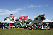 TAMPA, FL - OCTOBER 15:  Tampa Bay Buccaneers fans tailgate outside the stadium prior to the game against the Cincinnati Bengals at Raymond James Stadium on October 15, 2006 in Tampa, Florida. The Bucs defeated the Bengals 14-13. (©Paul Anthony Spinelli)