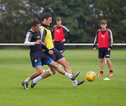 Darren O&rsquo;Dea and Danny Williams during Dundee training at the University Grounds, Riverside, Dundee<br /> <br />  - &copy; David Young - www.davidyoungphoto.co.uk - email: davidyoungphoto@gmail.com