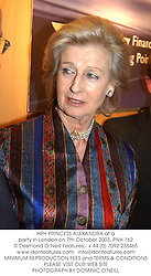 HRH PRINCESS ALEXANDRA at a party in London on 7th October 2003.PNH 162