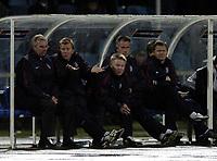 Fotball<br /> VM-kvalifisering<br /> Azerbaijan / Aserbaijan v England<br /> 13.10.2004<br /> Foto: BPI/Digitalsport<br /> NORWAY ONLY<br /> <br /> 13/10/2004 Azerbaijan v England, World Cup Qualifier, Tofiq Berhamov Stadium<br /> <br /> Steve Maclaren and Sven Gøran Eriksson are at a loss to explain England's tepid performance