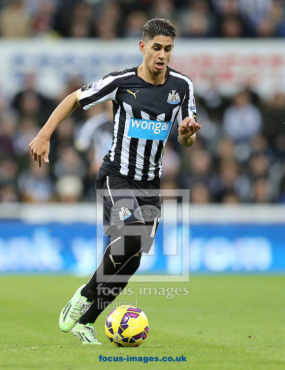 Ayoze Perez of Newcastle United during the Barclays Premier League match at St. James's Park, Newcastle<br /> Picture by Simon Moore/Focus Images Ltd 07807 671782<br /> 01/01/2015