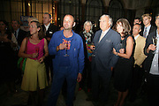 Sophie Bainbridge, Ab Rogers, Sarah Miller and her father John Miller. 10th Anniversary of Conde Nast Traveller magazine. Foreign and Comonwealth Office. Durbar Court. 10 September 2007. -DO NOT ARCHIVE-© Copyright Photograph by Dafydd Jones. 248 Clapham Rd. London SW9 0PZ. Tel 0207 820 0771. www.dafjones.com.