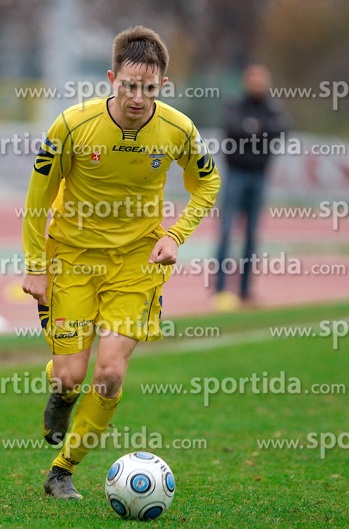 Darko Topic of Domzale at  football match of 20th Round of First League between NK Interblock and NK Domzale, on December 5, 2009,  in ZSD Ljubljana, Ljubljana, Slovenia.  Interblock defeated Domzale 2:1. (Photo by Vid Ponikvar / Sportida)