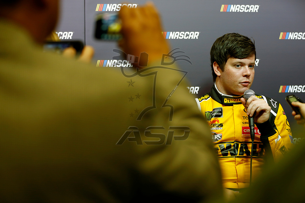January 23, 2018 - Charlotte, North Carolina, USA: Erik Jones (20) talks with the media during the NASCAR Media Tour at Charlotte Convention Center in Charlotte, North Carolina.