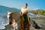 Hacienda Pinilla, a 4,500-acre project in Guanacaste Peninsula, with more than 3 miles of beaches, hotels, villas and a golf course.Horseback riding. The Hacienda hosts folkloric presentations, with Costa Rican clothes going back to the beginning of the last Century.Adriana Bermudez with the typical Costa RIcan gala dress.
