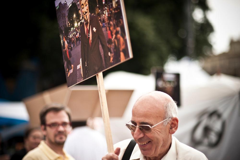 indignados protest in barcelona 19 june 2011