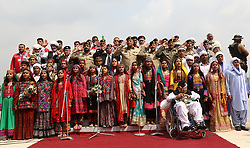 September 6, 2017 - Lahore, Punjab, Pakistan - A view of the '' 52nd anniversary of Pakistan's Defense Day'' to pay tribute to the ''Martyrs of 1965 War and commemorate their sacrifices for motherland, at fortress stadium. (Credit Image: © Rana Sajid Hussain/Pacific Press via ZUMA Wire)