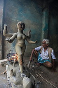 Kumartuli is the colourful traditional pottersí quarter in northern Kolkata (formerly Calcutta). Calcutta is the capital of India's West Bengal state. Founded as an East India Company trading post, it was India's capital under the British Raj from 1773ñ1911.