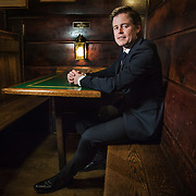 WASHINGTON, DC - MAR7: Caspar Phillipson, the Danish actor who played JFK in the recent movie Jackie, at Martin's Tavern in Georgetown, March 7, 2017, after he reenacted several of President Kennedy's most famous speeches at the tavern. (Photo by Evelyn Hockstein/For The Washington Post)