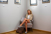 A made in Chelsea character (pictured) attends with friends (including one who will be in the next series). The Private view for Drawing on Style: Four Decades of Elegance - an exhibition of original vintage fashion illustrations from Post War 1940s through to the 1970s organized by GRAY M.C.A, leading specialists in Fashion Illustration.  It includes more than 40 original works by some of the leading illustrators of the time from Britain, Europe and America including René Bouché, René Gruau and Carl Erickson for publications including Vogue as well as advertising work for L'Oreal and other famous names in Haute Couture.  There are also a selection of original designs by designers including Dior, Biba & Zandra Rhodes. Coinciding with London Fashion Week, the exhibition runs from Thursday 11th - Tuesday 16th September 2014 with prices from £300-£10,000. Gallery 8, St James's, London. 10 Sept 2014. Guy Bell, 07771 786236, guy@gbphotos.com