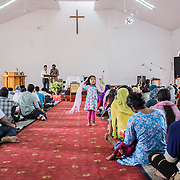 Saturday service inside the Putali Sadak church, built in the 1953, which is the second oldest church in Nepal