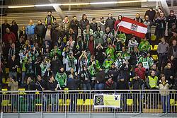 Fans of EHC Bregenzerwald during 5th game of final INL league ice hockey match between HK Playboy Slavija and EHC Bregenwald at Dvorana Zalog, on April 3, 2013, in Ljubljana, Slovenia. (Photo by Matic Klansek Velej / Sportida)