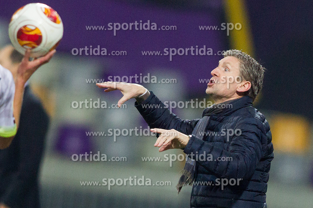 Francky Dury, head coach of Zulte Waregem during football match between NK Maribor and SV Zulte Waregem (BEL) in 4th Round of Group Stage in Group D of  UEFA Europa League 2014 on November 7, 2013 in Stadion Ljudski vrt, Maribor, Slovenia. Photo by Vid Ponikvar / Sportida