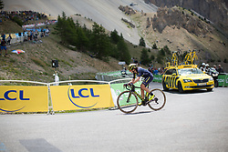 Annemiek van Vleuten (NED) of Orica Scott Cycling Team aproaches the final kilometer of La Course 2017 - a 67.5 km road race, from Briancon to Izoard on July 20, 2017, in Hautes-Alpes, France. (Photo by Balint Hamvas/Velofocus.com)