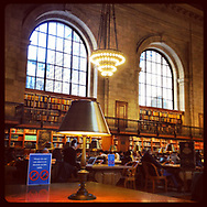 The main reading room in the New York Public Library