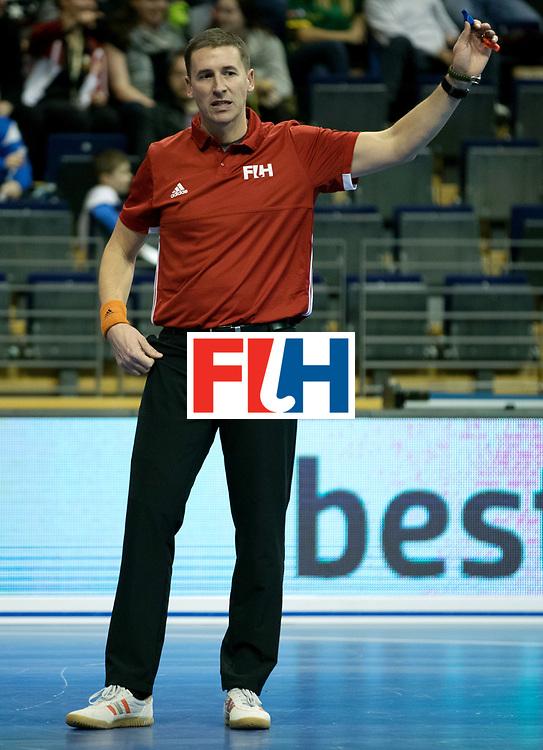 BERLIN - Indoor Hockey World Cup<br /> Men: Russia - South Africa<br /> foto: Bart de Liefde.<br /> COPYRIGHT WILLEM VERNES