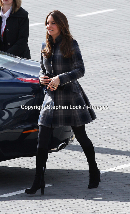 The Duchess of Cambridge arriving at the Emirates Arena in Glasgow, Thursday, 4th April 2013.  Photo by: Stephen Lock / i-Images