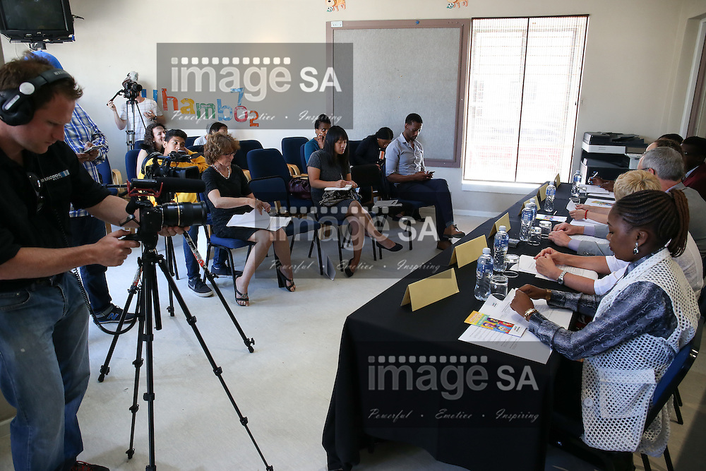 CAPE TOWN, SOUTH AFRICA - Wednesday 30 November 2016, media during the launch of a major study to test the efficacy of a vaccine to prevent HIV infection at the Emavundleni Research Centre in Old Crossroads, Cape Town. With more than 1 000 people in South Africa becoming infected with HIV each day, a successful HIV vaccine is seen as the key to ending the epidemic. This new preventive vaccine efficacy trial, called HVTN 702, is a critically important study and its start is a special moment in HIV research. HVTN 702 is the only current HIV vaccine efficacy trial in the world and is being conducted solely in South Africa. It has been seven years since the world last saw the start of an efficacy trial of an HIV vaccine. The South African study will test a modified form of the vaccine regimen used in RV144, a trial conducted in Thailand, which reported in 2009 that the candidate vaccine was 31.2% effective in preventing new HIV infections 3.5 years after first vaccination. HVTN 702 builds on the foundation of the promising Thai trial findings and seeks to increase the level of efficacy and durability of the vaccine response. If HVTN 702 is shown to be effective against new infections, this South African trial could lead to the licensing of the world&rsquo;s first HIV vaccine.<br /> Photo by Roger Sedres/ImageSA