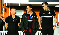 Chris Rogers, Marcus Trescothick and Craig Overton looks on.  - Mandatory by-line: Alex Davidson/JMP - 23/09/2016 - CRICKET - Cooper Associates County Ground - Taunton, United Kingdom - Final Day of the Season - Specsavers County Championship Division One