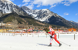 17.03.2017, Ramsau am Dachstein, AUT, Special Olympics 2017, Wintergames, Langlauf, Divisioning 5 km Classic, im Bild ein Athlet // an athlete during the Cross Country Divisioning 5 km Classic at the Special Olympics World Winter Games Austria 2017 in Ramsau am Dachstein, Austria on 2017/03/17. EXPA Pictures © 2017, PhotoCredit: EXPA / Martin Huber