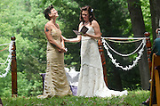 Bronwen Exter weds Rachel Ferro at Watkins Glen State Park in Watkins Glen, N.Y., Saturday, June 22, 2013.