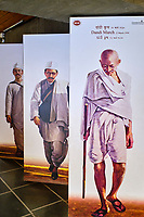 Inde, Etat de Gujarat, Ahmedabad, classé Patrimoine Mondial de l'UNESCO, ashram de Sabarmati devenu le musée de Gandhi // India, Gujarat, Ahmedabad, Unesco World Heritage city, Sabarmati ashram or Gandhi museum
