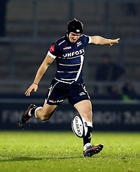AJ MacGinty of Sale Sharks - Mandatory by-line: Robbie Stephenson/JMP - 18/12/2016 - RUGBY - AJ Bell Stadium - Sale, England - Sale Sharks v Saracens - European Champions Cup