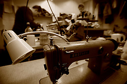 UK ENGLAND LONDON 15JAN09 - Sewing at The Huntsman tailors in Saville Row, central London. Established in 1849, the Huntsman has been located at the legentary Saville Row since 1919...jre/Photo by Jiri Rezac..© Jiri Rezac 2009