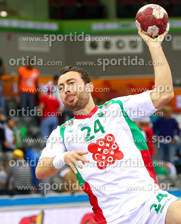 18.01.2015, Ali Bin Hamad Al Attiyah Arena, Doha, QAT, IHF, Handball Weltmeisterschaft der Herren, Gruppe C, Island vs Algerien, im Bild Messaoud Layadi (ALG) // during the IHF Handball World Championship group C match between Iceland and Algeria at the Ali Bin Hamad Al Attiyah Arena, Doha, Qatar on 2015/01/18. EXPA Pictures © 2015, PhotoCredit: EXPA/ Sebastian Pucher