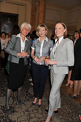 Left to right, SUE ENGLISH, JULIE ETCHINGHAM and TRACEY CROUCH MP at a reception for Women in Media hosted by the Prime Minister David Cameron at 10 Downing Street, London on16th May 2013.