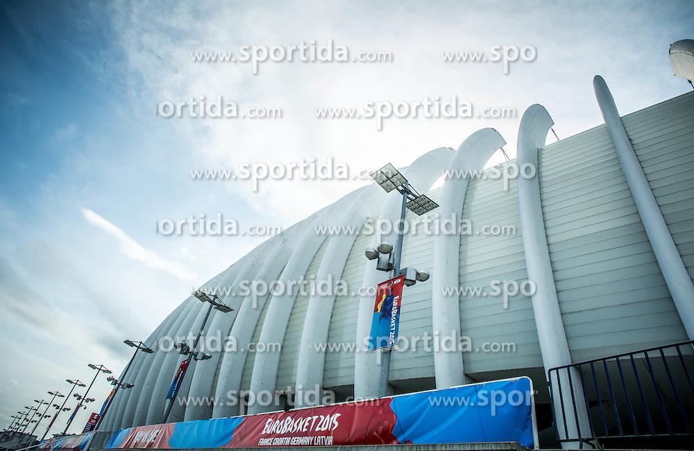 Arena Zagreb 1 day prior to the FIBA Europe Eurobasket 2015, on September 4, 2015, in Arena Zagreb, Croatia. Photo by Vid Ponikvar / Sportida