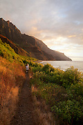 Trail , Kalalau Valley, Napali Coast, Kauai, Hawaii