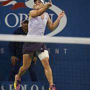 Melanie Oudin, USA, in action against Caroline Wozniacki, Denmark, during the US Open Tennis Tournament at Flushing Meadows, New York, USA, on Wednesday, September 9, 2009. Photo Tim Clayton.