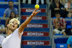 Dominic Thiem (AUT) during a tennis match against the Gael Monfils (FRA) in semi-final round of singles at 26. Konzum Croatia Open Umag 2015, on July 25, 2015, in Umag, Croatia. Photo by Urban Urbanc / Sportida