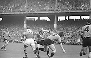 All Ireland Senior Football Championship Final, Kerry v Down, 22.09.1968, 09.22.1968, 22nd September 1968, Down 2-12 Kerry 1-13, Referee M Loftus (Mayo)..Kerry Forward runs past Down defender Mc Cartan during a Kerry Attack,