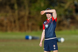 England U20 back Mathew Protheroe (Gloucester Rugby)  looks on during a session at Bristol Rugby's training facility ahead of the U20 Six Nations match versus Wales - Mandatory byline: Rogan Thomson/JMP - 08/03/2016 - RUGBY UNION - Clifton Rugby Club - Bristol, England - England Under 20s Training at Bristol Rugby.