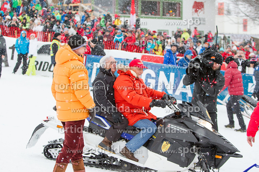 24.01.2015, Streif, Kitzbühel, AUT, FIS Weltcup Ski Alpin, Kitzbuehel, Kitz Charity Race, im Bild v.l.: Bernie Ecclestone und Niki Lauda // during Kitz Charity Race of Kitzbuehel FIS Ski Alpine World Cup at the Streif in Kitzbühel, Austria on 2015/01/24. EXPA Pictures © 2015, PhotoCredit: EXPA/ JFK