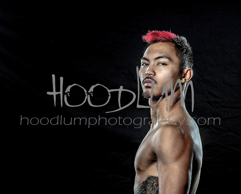 "Portrait of MMA Cage Fighter Dylan ""The Rooster"" Oligo from Team Childs Play MMA"
