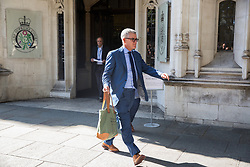 London, UK. 18 September, 2019. Jolyon Maugham QC leaves the Supreme Court at lunchtime on the second day of a hearing to consider whether Prime Minister Boris Johnson broke the law by proroguing Parliament in advance of Brexit Day.