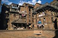 houses in Bhaktapur, Nepal