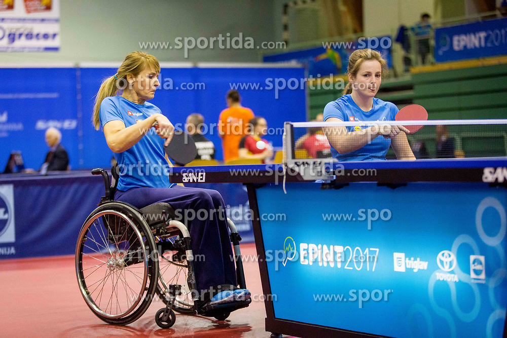 SLOVENIA (DOLINAR Andreja and MEGLIC Barbara) during day 5 of 15th EPINT tournament - European Table Tennis Championships for the Disabled 2017, at Arena Tri Lilije, Lasko, Slovenia, on October 2, 2017. Photo by Ziga Zupan / Sportida