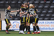 Notts County forward Jonathan Stead (30) scores a goal 1-0 and celebrates during the EFL Sky Bet League 2 match between Notts County and Lincoln City at Meadow Lane, Nottingham, England on 2 February 2019.