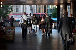 UK ENGLAND LONDON 21JUL15 - Commuters arrive in London Bridge at the start of a working day in London.<br /> <br /> <br /> <br /> jre/Photo by Jiri Rezac / Greenpeace<br /> <br /> <br /> <br /> © Jiri Rezac 2015