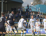 Iain Davidson heads for goal - Greenock Morton v Dundee, SPFL Championship at Cappielow<br /> <br />  - &copy; David Young - www.davidyoungphoto.co.uk - email: davidyoungphoto@gmail.com