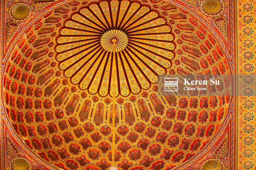 Ceiling details, Hassan II Mosque, Casablanca, Morocco