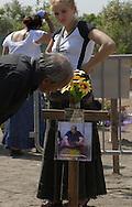 Rome, Italy 27/05/2008: Tumulazione nel cimitero di Prima Porta di Adam Gheorghita, moglie di Tinca della comunità Rom rumena di Pietralata - Burial in the cemetery of Prima Porta, Romanian Rom funeral.