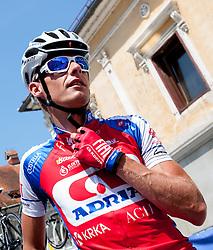 Tomaz Nose (SLO) of Adria Mobil before 4th Stage Brezice - Novo Mesto (155,8 km) at 20th Tour de Slovenie 2013, on June 16, 2013, in Brezice, Slovenia. (Photo by Urban Urbanc / Sportida.com)