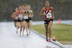 Ottawa Lions leading the women's distance medley relay at the 2007 OTFA Junior-Senior Championships in Ottawa.