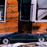 Many building collapsed in the Marina district of San Francisco hit by the 6.9 magnitude 1989 Loma Prieta earthquake.